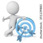 thumbs up target. dude 3d... | Shutterstock . vector #351139883