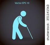 old man vector icon   Shutterstock .eps vector #351141563