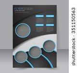 brochure design. flyer template.... | Shutterstock .eps vector #351150563