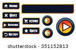 game buttons | Shutterstock .eps vector #351152813