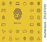 app outline  thin  flat ... | Shutterstock .eps vector #351157253