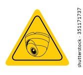 video surveillance sign. cctv...   Shutterstock .eps vector #351171737