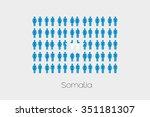 illustration of men and women... | Shutterstock .eps vector #351181307