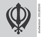 khanda symbol . sikhism... | Shutterstock .eps vector #351185243
