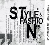 style and fashion word cloud... | Shutterstock . vector #351193517