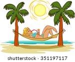 southern resort | Shutterstock .eps vector #351197117