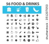 food  drinks  grocery  icons ... | Shutterstock .eps vector #351207053