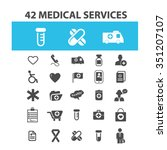 medical and health care  icons  ... | Shutterstock .eps vector #351207107