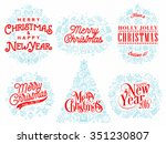christmas typographical... | Shutterstock .eps vector #351230807