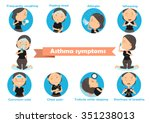 woman having asthma using the... | Shutterstock .eps vector #351238013