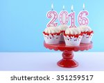 happy new year cupcakes with... | Shutterstock . vector #351259517