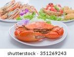 Big Leg Crab Curry Dish Seafoo...