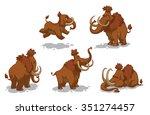 set of cartoon cute funny... | Shutterstock .eps vector #351274457
