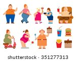Fat People Vector Flat...