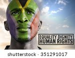 human rights against south... | Shutterstock . vector #351291017