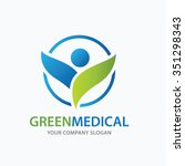 medical logo vector logo... | Shutterstock .eps vector #351298343