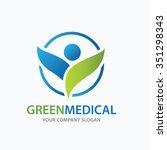 medical vector logo template | Shutterstock .eps vector #351298343