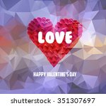 valentines day with heart shape | Shutterstock .eps vector #351307697