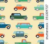 seamless wallpaper of set... | Shutterstock . vector #351309737