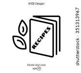 web line icon. recipe book | Shutterstock .eps vector #351313967