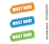 must have sticker labels | Shutterstock .eps vector #351330293