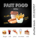 fastfood advertising on... | Shutterstock . vector #351332957