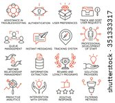 vector set of 16 icons related... | Shutterstock .eps vector #351333317