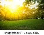 beautiful landscape with sunset ... | Shutterstock . vector #351335507
