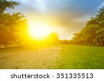 beautiful landscape with sunset ... | Shutterstock . vector #351335513