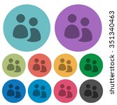 color user group flat icon set...