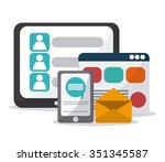 technology concept with online... | Shutterstock .eps vector #351345587