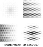 set of abstract halftone.... | Shutterstock .eps vector #351359957