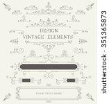 vintage design template ... | Shutterstock .eps vector #351365873