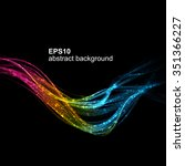 abstract futuristic colorfull... | Shutterstock .eps vector #351366227