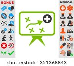 health strategy vector icon....