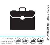 briefcase icon | Shutterstock .eps vector #351376733