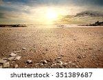 cloudy sky in stony desert of... | Shutterstock . vector #351389687