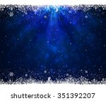 abstract blue background with... | Shutterstock . vector #351392207