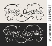 merry christmas   hand drawn... | Shutterstock .eps vector #351395357