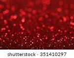 red blur bokeh light background | Shutterstock . vector #351410297