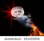 fire alarm will be triggered. | Shutterstock . vector #351410543