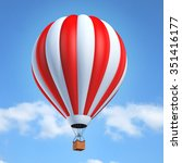 hot air balloon 3d illustration | Shutterstock . vector #351416177