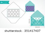 die cut envelope template... | Shutterstock .eps vector #351417437