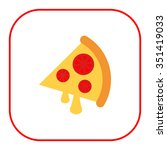 icon of pizza slice with cheese ...   Shutterstock .eps vector #351419033