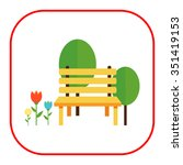 Icon Of Park Bench  Trees And...