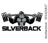 strong gorilla  | Shutterstock .eps vector #351421817