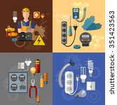 professional electrical... | Shutterstock .eps vector #351423563