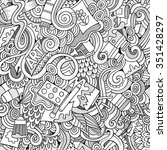 cartoon vector doodles hand... | Shutterstock .eps vector #351428297