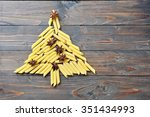 christmas fir tree made from... | Shutterstock . vector #351434993