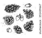 hand drawn vector illustrations.... | Shutterstock .eps vector #351439667